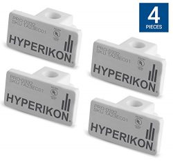 Hyperikon Track Lighting End Caps, White Single Circuit 3-Wire Track Light End Cover (Pack of 4)