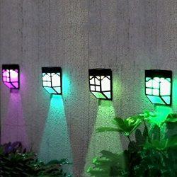 Solar color changing light outdoor fence fence light garden waterproof family landscape lights i ...