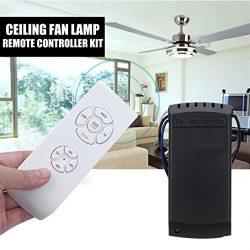 Remote Control, USHOT Universal Ceiling Fan Lamp Remote Controller Kit+Timing Wireless Remote Co ...