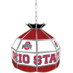 NCAA Ohio State University Tiffany Gameroom Lamp, 16″