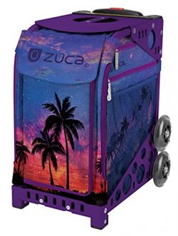 "Zuca ""Island Life"" Sport Insert Bag, Purple Frame with Flashing Wheels"