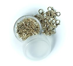 All in ONE 12x6mm Lobster Claw Clasps with 15 Gram Storage Box (Light Gold)