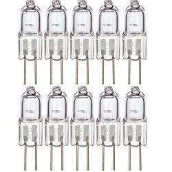 [10 Pack] Simba Lighting Halogen G4 T3 20 Watt 280lm Bi-Pin Bulb 12 Volt A/C or D/C for Accent L ...