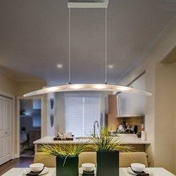 MINGZE Modern LED Pendant Lighting, 4-Light Stylish LED Ceiling Chandelier Light, Adjustable Han ...