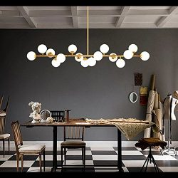 Fandian Post-Modern Ceiling Light Chandelier Pendant Lamp, DNA Shaped with Bulb LED16PCS Require ...