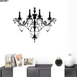 BIBITIME Vinyl Candle Pendent Lamp Design Wall Decal Sticker for Living Room Porch Office Nurser ...