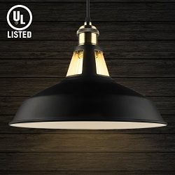 B2ocled Pendant Light Industrial Barn Antique Metal Dome Shade Hanging Lights Fixture for Kitche ...