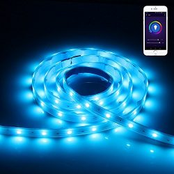 Lineway RGBW Led Light Strip Compatible with Alexa for IOS and Android Smart WiFi Controlled Lig ...
