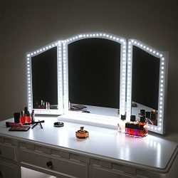 Pangton Villa LED Vanity Mirror Lights Kit for Makeup Dressing Table Vanity Set 13ft Flexible LE ...