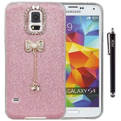 S5 Case, Galaxy S5 Case, iYCK 3D Handmade Luxury Diamond Rhinestone Hybrid Glitter Bling Shiny T ...