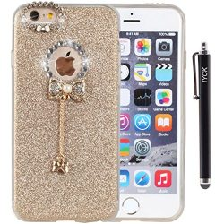 iPhone 6 Plus Case, iYCK 3D Handmade Lovely Cute Luxury Diamond Hybrid Glitter Bling Shiny TPU S ...