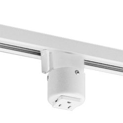 Progress Lighting P8751-28 Outlet Adapter Grounded Convenience Outlet Mounts On Track with Maxim ...
