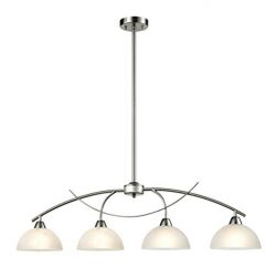 Dazhuan Contemporary Alabaster Frosted Glass Pendant Light Kitchen Island Chandelier Hanging Cei ...