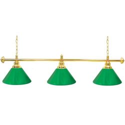 Trademark Gameroom Green Three Shade Gameroom Lamp, 60″ (Gold Hardware)