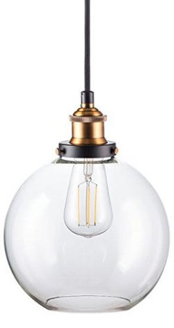Primo LED Industrial Kitchen Pendant Light – Antique Brass Hanging Fixture – Linea d ...