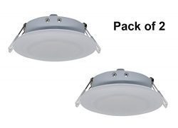 Facon 4.5Inch LED RV Puck Light Full Aluminum Recessed Mount Down Light 12V DC 4W 280Lumens(Pack ...