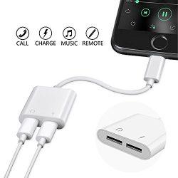 SUMDY Dual iPhone Adapter, Lightning Adapter with Call,iPhone 7 Adapter, Lightning Adapter Split ...