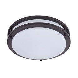Britelight 5 year warranty 16 inch LED Flush Mount Ceiling Light, 25W 1750 Lumens, ETL Listed, D ...
