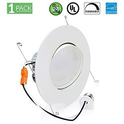 Sunco Lighting 12W 6inch Directional Adjustable Gimbal Dimmable LED Retrofit Recessed Lighting F ...