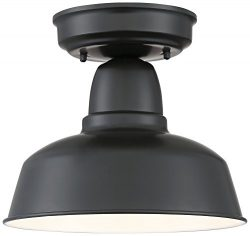 Urban Barn 10 1/4″ Wide Black Outdoor Ceiling Light