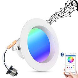 Unibank Smart life Smart Downlight, iLintek Bluetooth Smart Multicolor Full Function LED Downlig ...