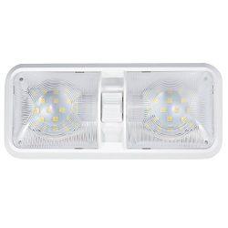Kohree 12V Led RV Ceiling Dome Light RV Interior Lighting for Trailer Camper with Switch, White, ...
