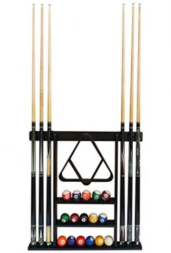 Flintar Wall Cue Rack, Stylish Premium Billiard Pool Cue Stick holder, Made of Solid Hardwood, N ...