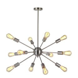 Modern Sputnik Chandelier Lighting 12 Lights Italian Designed Pendant Lighting Mid-Century Ceili ...