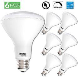 Sunco Lighting 6 Pack BR30 LED Light Bulb 11 Watt (65 Equivalent) Flood Dimmable 2700K Kelvin So ...