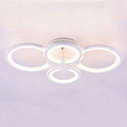Modern Ceiling Light,Royal Pearl Dimmable Chandelier Led Flush Mount Pendant Light for Living R ...