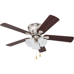 Prominence Home 80032-01 Saddle Ridge Low-Profile Hugger Ceiling Fan, LED 3-Light, Chocolate Map ...