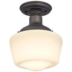 Westinghouse 6342200 Scholar One-Light Indoor Semi-Flush Ceiling Fixture, Oil Rubbed Bronze Fini ...