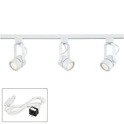 Linear 3-Light White LED Bullet Track Kit w/Connector