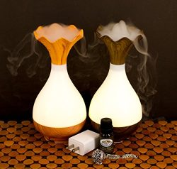 Stress & Anxiety Relieving Essential Oil Starter Kit – Ultrasonic Cool Mist Essential Oil Di ...