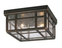 J du J Sierra Craftsman 10 1/2″W Outdoor Ceiling Light