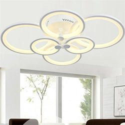 Chandelier Modern Acrylic Lighting Flush Mount LED Ceiling Light Fixture Lamp 6 Heads for Dining ...