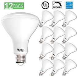 12 PACK – BR30 LED 11WATT (65W Equivalent), 3000K Warm White, DIMMABLE, Indoor/Outdoor Lig ...