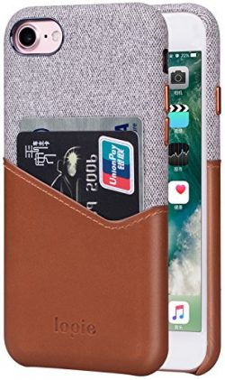iPhone 8 Case, iPhone 7 Case, Lopie [Sea Island Cotton Series] Fabric Slim Fit Hard Back Case Wa ...