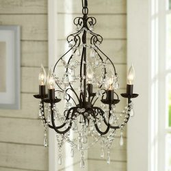Aero Snail North American Country Style Crystal 5-Light Chandelier Lighting Metal Pendant Lamp