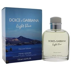 Light Blue Discover Vulcano by Dolce & Gabbana for Men – 4.2 oz EDT Spray