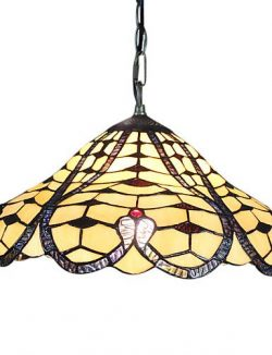 HJL- Tiffany Glass Pendent Lights with 2 Lights in Heart Pattern , 110-120v