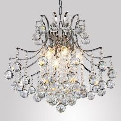 LightInTheBox Modern Contemporary Crystal Chandelier with 6 Lights, Pendant Modern Ceiling Light ...