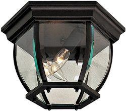 Minka Lavery Outdoor Ceiling Lighting 71174-66, Flush Mount, 120 Watts, Black