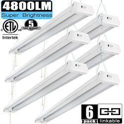 Linkable LED Shop Light 4ft 42W 5000K 4800LM Super Bright, cETLus Certified, Garage Lighting Fix ...