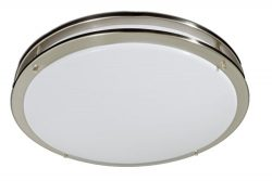 (Bulbs Included) Select Lighting 17 inch Close to Ceiling Light Fixture | Satin Nickel Circle Li ...