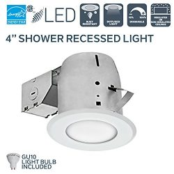 Nadair 4in Shower Recessed Lighting Dimmable LED Downlight Bathroom Spotlights – IC Rated  ...