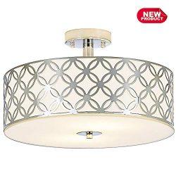 COTULIN Modern Style Ceiling Light Fixture Chrome Finish Flush Mount Ceiling Light, Ceiling lamp ...