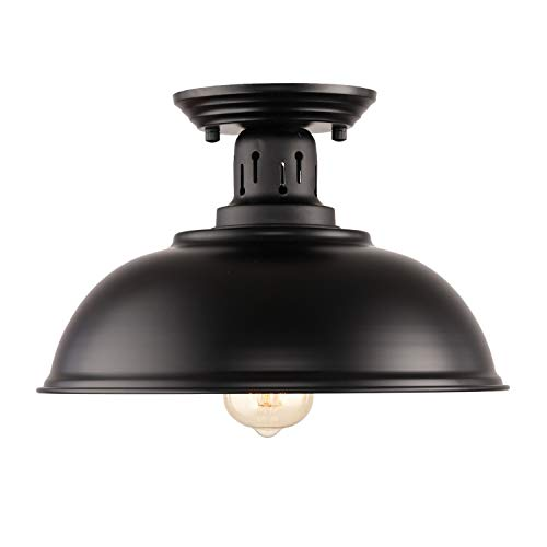 HMVPL Upgraded Industrial Close To Ceiling Light, Vintage