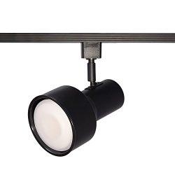 WAC Lighting LTK-703-BK L Series Line Voltage Track Head in Black Finish