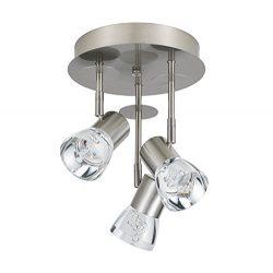 Catalina Lighting 20857-000 Pax Chrome Metal 3 LED Fixed Track Canopy